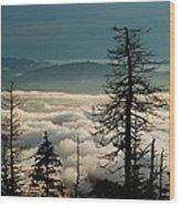 Clingman's Dome Sea Of Clouds - Smoky Mountains Wood Print