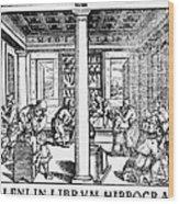 Clinic Scene, 1550 Wood Print