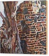 Clinker Wall Wood Print