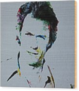 Clint Eastwood 2 Wood Print
