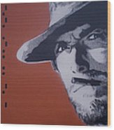 Clint Eastwood Wood Print