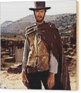 Clint Eastwood Outlaw Wood Print