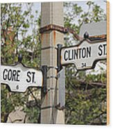 Clinton And Gore Wood Print