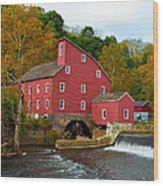 Clinton Mill II  Wood Print