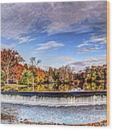Clinton Nj Historic Red Mill Pano Wood Print