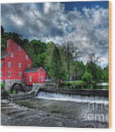 Clinton Red Mill House Wood Print by Lee Dos Santos