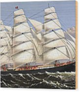 Clipper Ship Three Brothers Wood Print