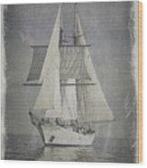 Clipper Under Sail Wood Print