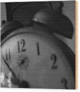 Clock 5 Wood Print