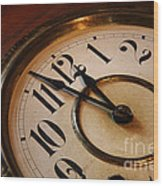 Clock Face Wood Print by Johan Swanepoel