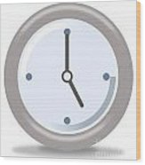 Clock Five Wood Print