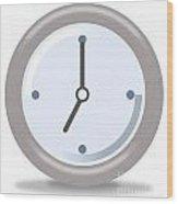 Clock Seven Wood Print