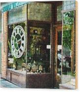 Clock Shop Wood Print