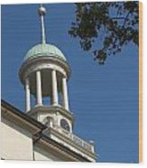 Clock Tower - Central Moravian Church Wood Print