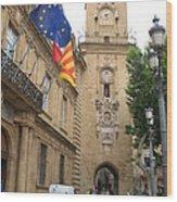 Clock Tower Aix En Provence Wood Print