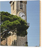 Clock Tower - Cannes - France Wood Print