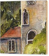 Clock Tower England Wood Print