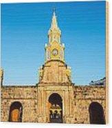 Clock Tower Gate Wood Print