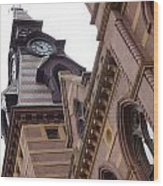 Clock Tower In New Haven Connecticut Wood Print