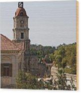 Clock Tower - Rhodos City - Roloi Wood Print