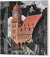 Clock Tower Wood Print by Tim Wilson