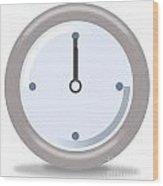 Clock Twelve Wood Print