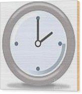 Clock Two Wood Print