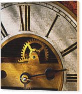 Clockmaker - What Time Is It Wood Print