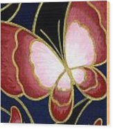 Cloisonne Butterfly Wood Print by Elaina  Wagner