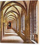Cloister Arches Wood Print