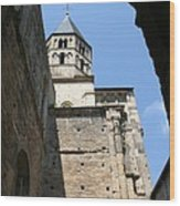 Cloister Cluny Church Steeple Wood Print
