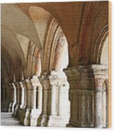 Cloister In Fontenay Abbey, France Wood Print
