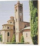 Cloister Monte Oliveto Maggiore Wood Print
