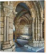 Cloisters Arch Wood Print
