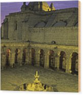 Cloisters At Sunset Arequipa Peru Wood Print