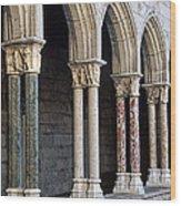 Cloisters Wood Print