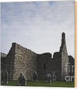Clonmacnoise Cathedral Wood Print