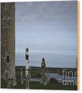 Clonmacnoise On The River Shannon Wood Print