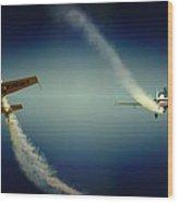 Close Flying Wood Print