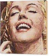 Close Up Beautifully Happy Wood Print by Atiketta Sangasaeng