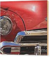 Close Up Of A Red Chevrolet Wood Print
