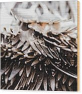 Close Up Of Heap Of Silver Forks Wood Print