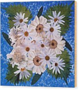 Close Up Of White Daisy Bouquet Wood Print