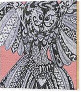 Close Up Owl Pink Wood Print