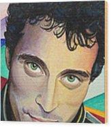 Close Up Portrait Rufus Sewell Wood Print