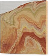 Close-up Two Of Agate Seven From The Poured Agate Painting Collection Wood Print