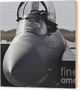 Close-up View Of A F-15c Eagle Wood Print