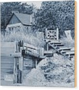 Closed For The Season Revisited Silver Version Wood Print