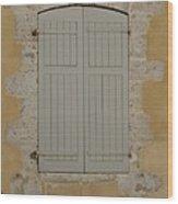 Closed Shutters Wood Print
