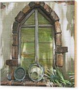 Closed Window Wood Print